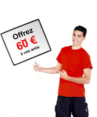 Offrez 60 euros à vos amis