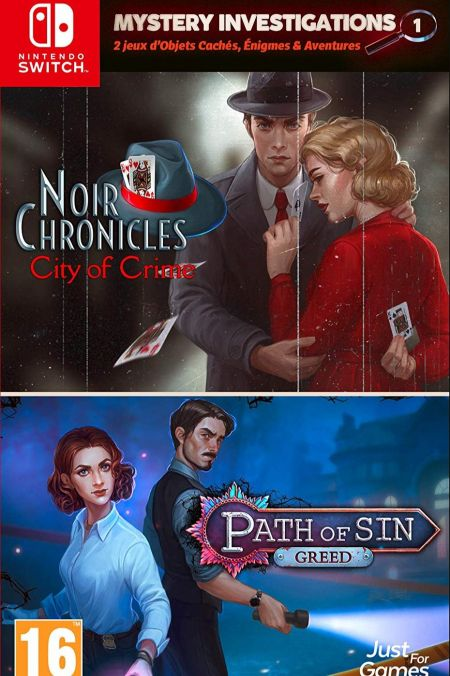 Echanger le jeu Mystery Investigations - Path of Sin:Greed & Noir Chronicles: City of Crime sur Switch