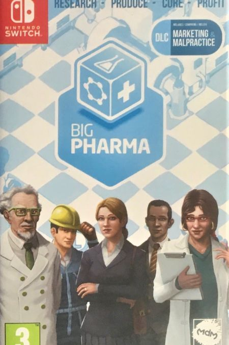Echanger le jeu Big Pharma sur Switch